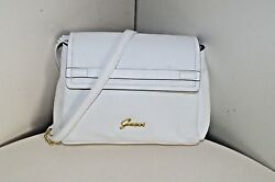 GUESS WOMENS SHOULDER BAG HANDBAG SMALL CROSSBODY FAUX LEATHER WHITE EVENING 143