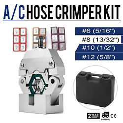 71550 Manually Operated AC Hose Crimper Tool Kit W 4 Dies Manual Crimping Pro