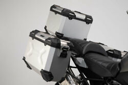Sw Motech Trax Adv Panniers And Top Box Kit - Silver - Bmw R1200lc Adventure