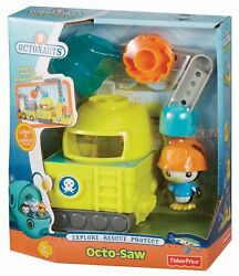 Fisher Price Octonauts Octo - Saw Vehicle And Peso Bjv52 New And Unopened