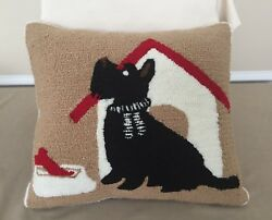 Scottie Dog Pillow  Martha Stewart Collection EUC