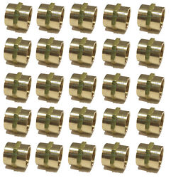 25 Pack Brass Hex Coupling 3/4 Coupler Union Fitting Adapter Air Fuel Water