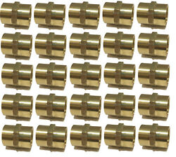 25 Pack Brass Hex Coupling 1 Coupler Union Fitting Adapter Air Fuel Water