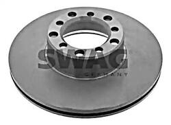 Swag Brake Disc Front Axle X2 Pcs For Mercedes W126 W107 R107 C107 1264210012