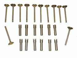 6 Intake And 6 Exhaust Valves , 12 Guides 1930 30 1931 31 Chevy 194 Chevrolet New