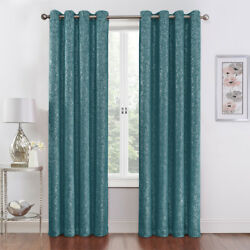 2 Pack Regal Home Metallic Thermal Blackout Grommet Curtains - Assorted Colors