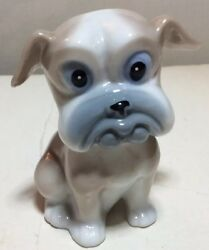 Vintage ceramic bulldog dog puppy small figurine 3