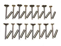 8 Intake And 8 Exhaust Valves , 16 Guides 1954 Buick 264 322 V8 New