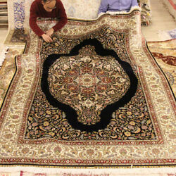 YILONG 6'x9' Oriental Persian Silk Handmade Carpet Valuable Home Decor Rug 0729