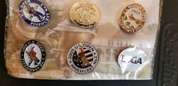 New In Package Usga Lapel Pin Collection No. 2. Set Of 6 Pins From Pinehurst.