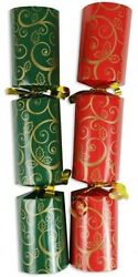 Christmas Cracker Red And Green - Box Of 100 Bulk Pack Catering Christmas Crackers