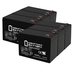 Mighty Max 12v 9ah Sla Battery Replaces Viking F-1 Swing Gate Operator - 6 Pack