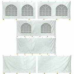 8'h 20x40' High Peak Tent Sidewall Kit Solid And Cathedral Window 16 Oz Block-out