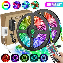 Waterproof 5M 16.4ft 300 LED RGB 3528 SMD Strip Light Flexible 12VRemotePower