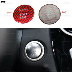 Carbon Fiber Start Stop Button Cover Trim For Mercedes W207 W211 W222 Amg W218