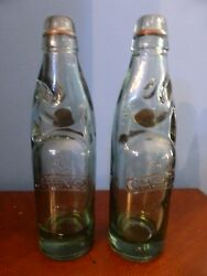Old Collectible Doc Cheng's Thick Glass Bottles With Balls