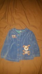 Baby Boy Dog Gone Cute Button Up Jacket Size 18M