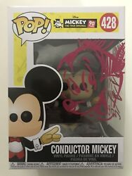 Guy Gilchrist Signed And Sketched Conductor Mickey Mouse Funko Pop Disney Jsa Coa