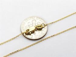 10k 20 Solid Yellow Gold Thin Dainty Cable Link Necklace Chain .8mm 10k Gold