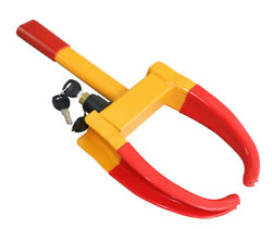 Universal Yellow/red Anti-theft Wheel Clamp Lock Fit Car Truck Trailer