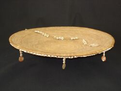 A Large Early Pomo Decorated Tray Basket Native American Indian C.1890