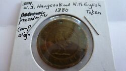 1880 Democratic Presidential Campaign Token W.s. Hangcouk And W.h. English