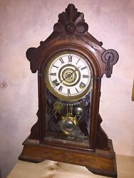 Antique Clock With Key Vegas Quiet Soft Action Seven Day Cycle Chimes Hourly