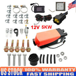 12V 5000W Diesel Air Heater Unit Kit 15×6×5.5 inches Universal Engineering Car
