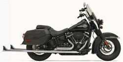 Bassani 1s76e-39 39 Chrome Dual Fishtails Exhaust Harley 18-19 Heritage Deluxe