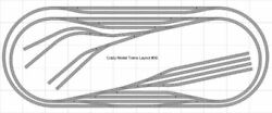 Train Layout 039 Bachmann Ho Ez Track Nickel Silver - 5and039 X 12and039 - Train Set