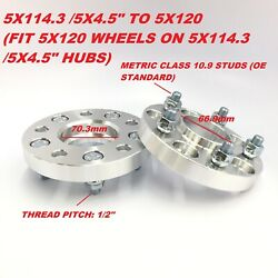 2pc 20mm Wheel Adapters 5x114.3 To 5x120 5x4.5 To 5x120 1/2 Stud Hubcentric
