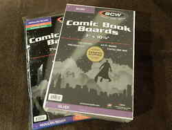 100 New Bcw Silver Age Resealable Thick Comic Book Bags And Boards - Acid Free