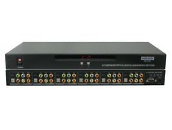Shinybow 5526: 4x2 Component Video DigitalAnalogOptical Audio Matrix Switcher