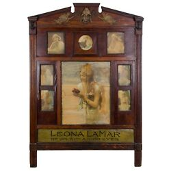 """Leona LaMar """"The Girl With A 1000 Eyes"""" Vaudeville Mentalist Lobby Marquee"""
