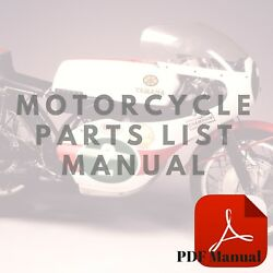 Triumph Speed Triple 8/98 Parts List Catalogue Motorcycle Manual