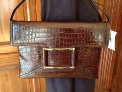 New Crocodile Alligator Lambertson Truex Handbag Bag Clutch