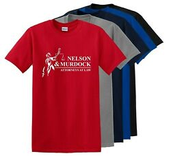 Nelson And Murdock Attorneys At Law Mens T-shirt Funny Cotton Adult Tee Up To 5x
