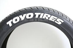 Tire Lettering - Toyo Tires - 1.5 For 17 18 Wheels 8 Permanent Stickers