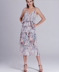 New-tags We Are Kindred Winnie Pleated Tier Cami And Skirt Dreamy Rose Sz 4