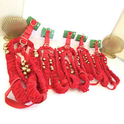 DOG PUP HARNESS 5 LOT S M LXL REINDEER BELLS CHRISTMAS HOLIDAY DRESS-UP COSTUME
