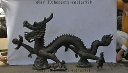 48 Inch Large Chinese Bronze Copper Fengshui Zodiac Year Dragon Dragons Statue