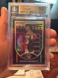 VERY HIGH END BOWMAN CHROME BLACK REFRACTOR BGS 9.5 2007 KEVIN DURANT RC /199