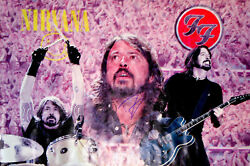 Dave Grohl Nirvana Foo Fighters Signed 24x36 Canvas Poster Photo Video Proof