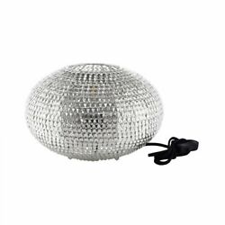 Walker Edison 8 Hand-crafted Globe Sparkle Table Lamp - Nickel