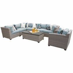 Florence 8 Piece Outdoor Wicker Patio Furniture Set 08d In Spa