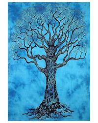 Indian Mandala Wall Hanging Dry Tree of Life Cotton Tapestry Best Christmas Gift