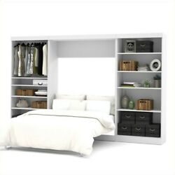 Bestar Pur 131 Full Wall Bed With 2 Piece Storage Unit In White