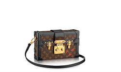 NWT AUTHENTIC LOUIS VUITTON PETITE MALLE MONOGRAM TRUNK BAG CLUTCH PURSE