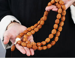 Necklace Carving Olive Seed Nut Prayer Beads Rosary Bracelet 18 Luohan Arhats