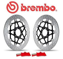 1050 Speed Triple R Abs 12-13 Brembo Complete Front Brake Disc And Pad Kit